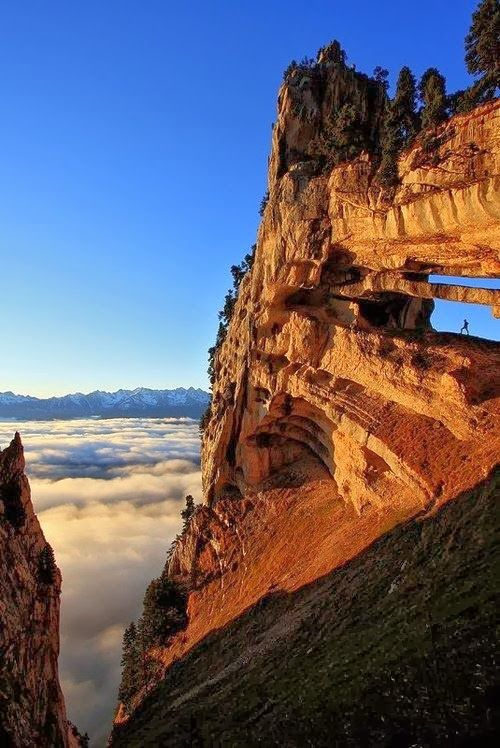 Chartreuse Arch, The French Alps...did you spot the visitor?