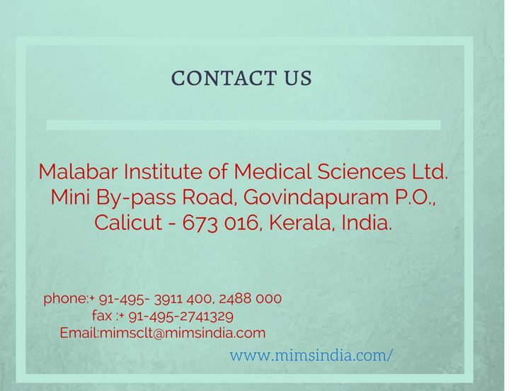 MIMS has got an excellent Oncology Centre which provides better treatments, focusing on the emotional, physical and financial aspects of patients.contact us- Malabar Institute of Medical Sciences Ltd. Mini By-pass Road, Govindapuram P.O Calicut - 673 016, Kerala, India  Phone	:	+ 91-495- 3911 400, 2488 000 	  #Cancer #CancerTreatments #Calicut #Kerala #India #Treatments #Chemotherapy