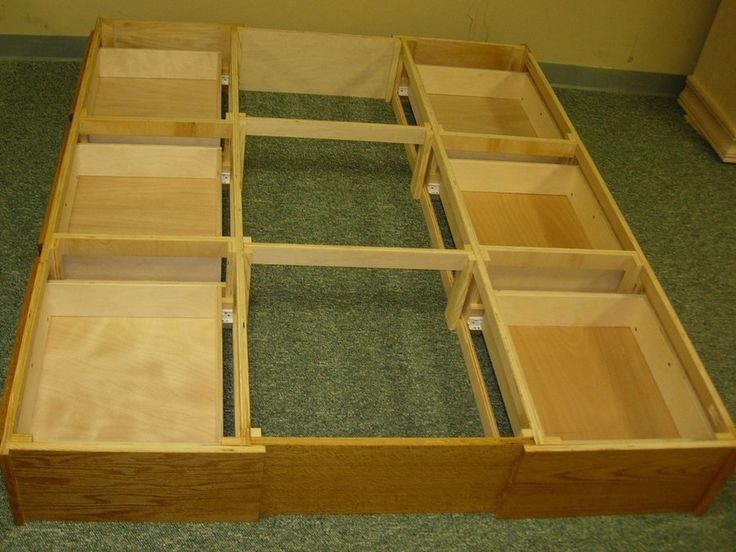 King Bed With Drawers Underneath Woodworking Projects