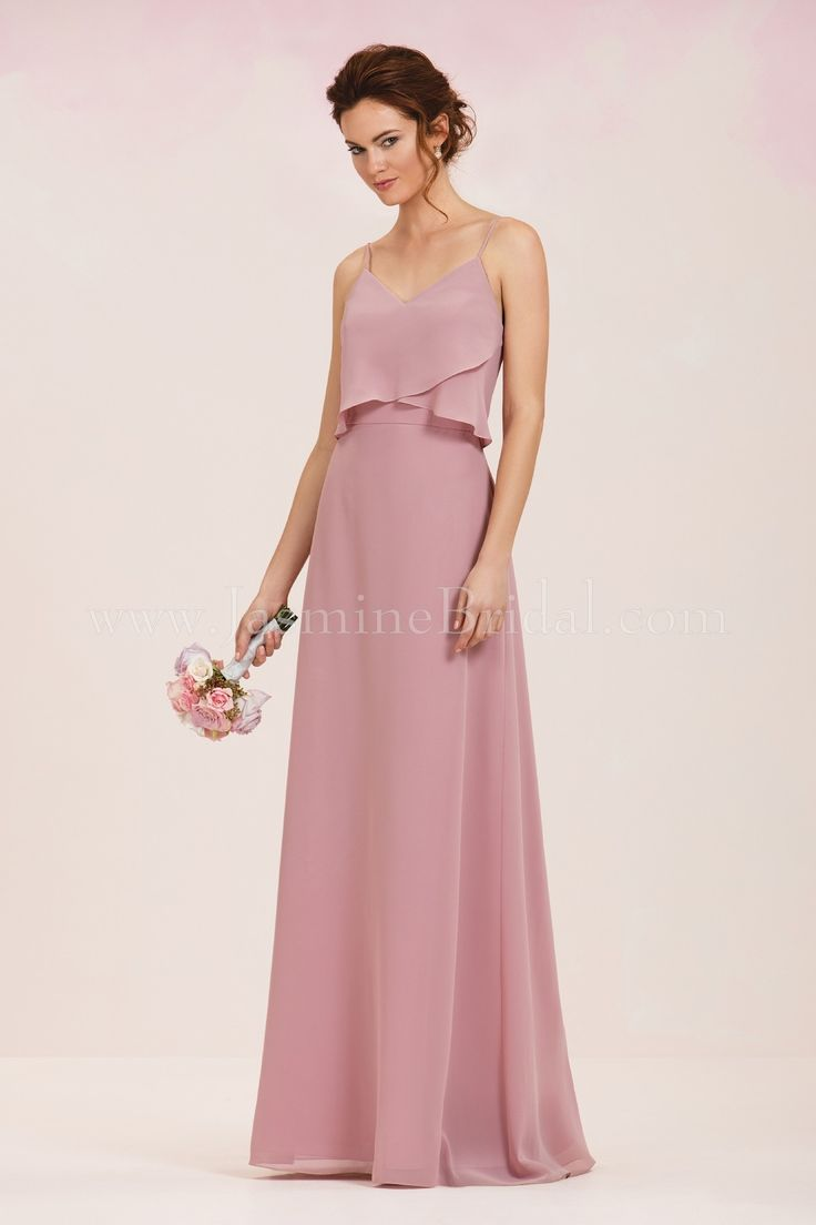 Jasmine Bridal Bridesmaid Dress Jasmine Bridesmaids Style P186052 in Gardenia