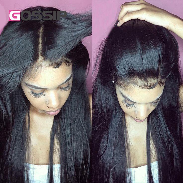 フルレースフロントかつら人間の髪ペルー髪ストレートフルレース人毛ウィッグ黒人女性レースフロント人間の髪の毛のかつら