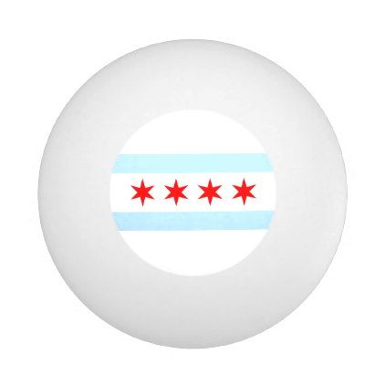 Flag of Chicago Illinois Ping-Pong Ball - red gifts color style cyo diy personalize unique