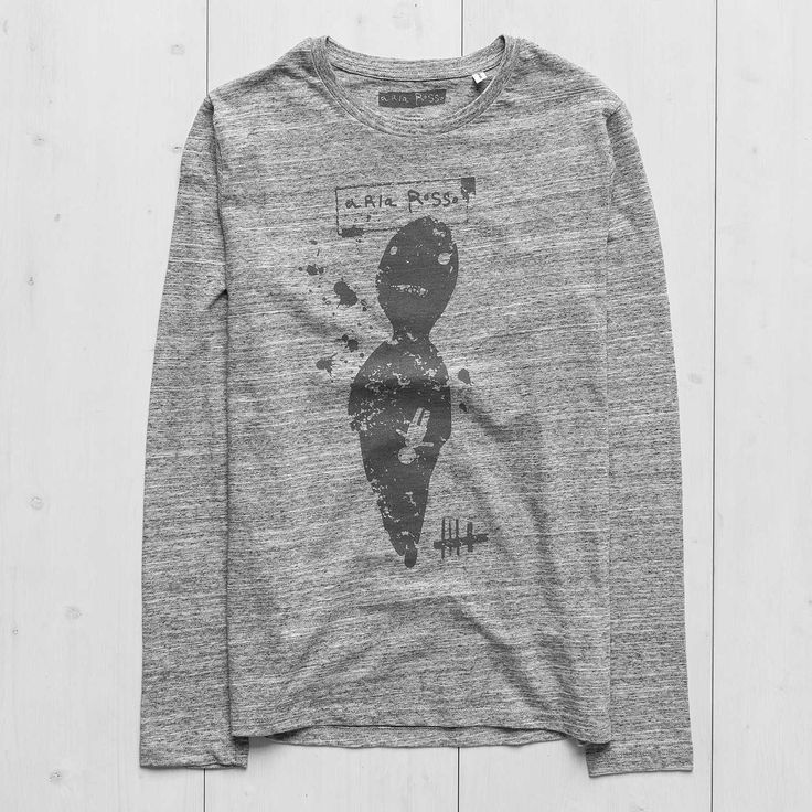 Men's Printed Sweatshirt long sleeve slub heather grey Zero Ariarosso #tshirtdesign  #graphictees #tee #tshirt #menswear