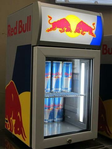 Red Bull mini fridge