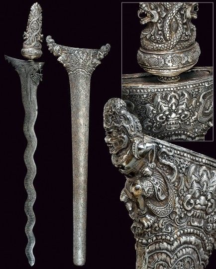 Silver ceremonial sword from Bali 18th