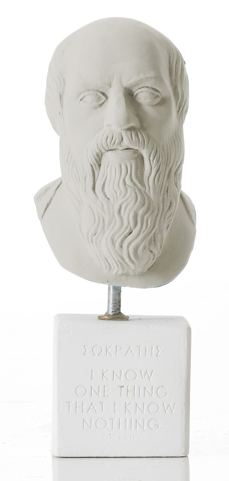 """Socrates - """"I know one thing that I know nothing""""  Weight: 300 gr  Dimension: 16x6,6x6cm Material: ceramine Color: ice grey"""
