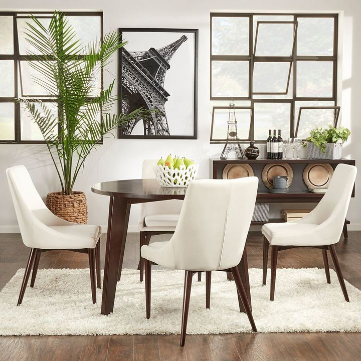 style dining room set that keeps it simple and lovely homevance allegra dining table - Cheap Dining Room Sets