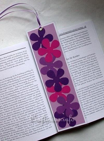 Spring Craft for Kids - Flower Power Bookmarker Craft Idea