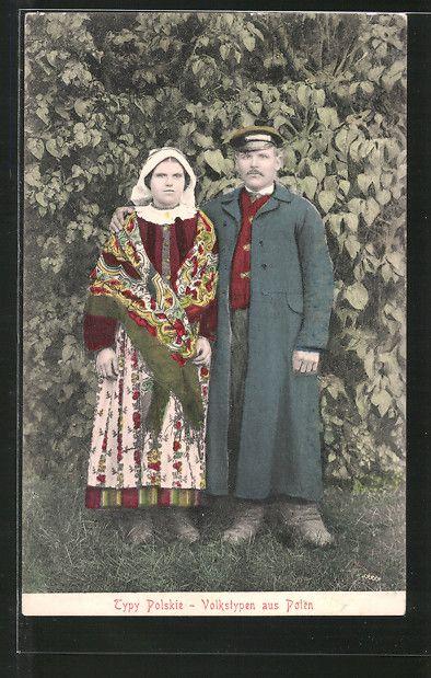 AK Volkstypen aus Polen, Bauernpaar 0