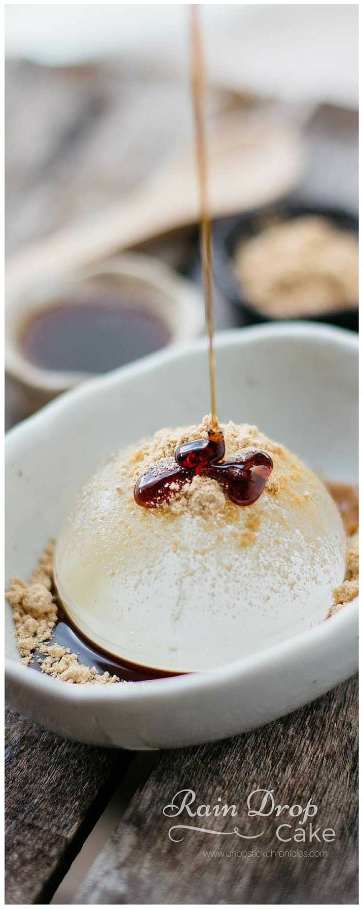 Rain Drop Cake is a super popular Japanese dessert and low in calories