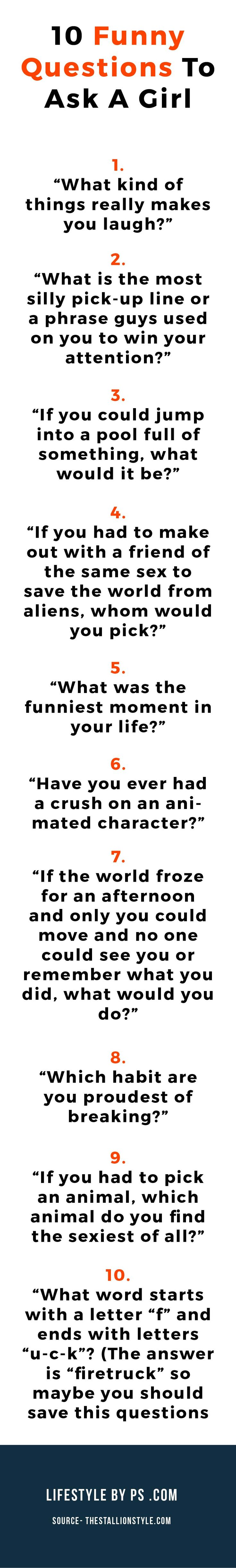 150 questions to ask a girl you want to impress funny