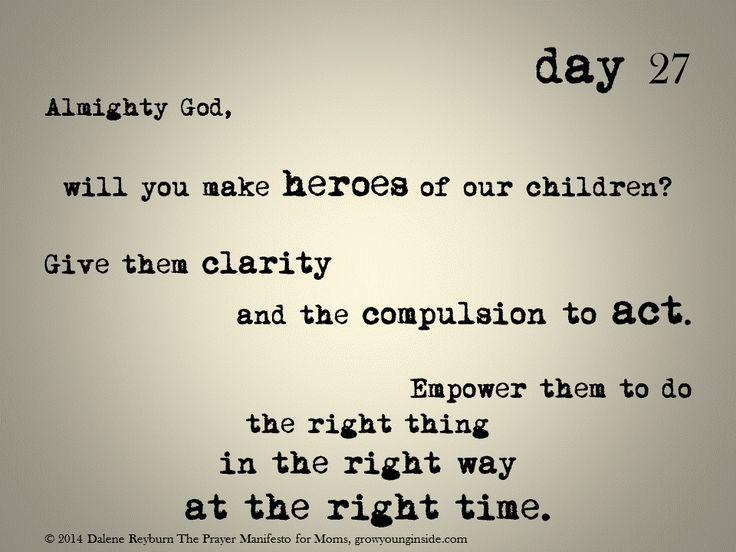 day 27 of The Prayer Manifesto for Moms