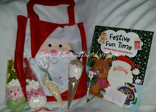 Christmas eve bags £15. Contains everything you need for a Magical Christmas Eve.  Santa key, reindeer food, sweet treats and a Christmas themed book all presented in this lovely Santa Bag. Available to order from www.facebook.com/SweetSensationLytham or www.SweetSensationLytham.weebly.com
