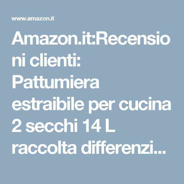 Amazon.it:Recensioni clienti: Pattumiera estraibile per cucina 2 secchi 14 L raccolta differenziata - scorrevole -227