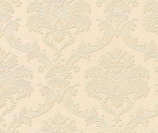 Trianon Neo Barock Retro VINYL Tapete beige 505320 Tapeten Rasch ...