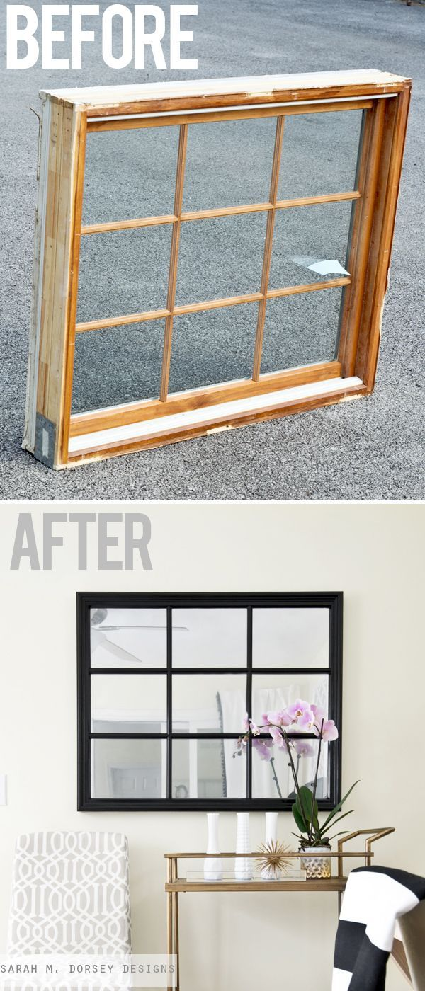 Pottery Barn Inspired Mirror | Krylon Looking Glass Spray Paint | sarah m. dorsey designs | Bloglovin'