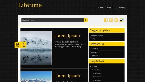 Lifetime Blogger Templates