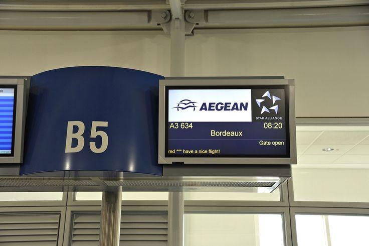 ATHENS to – BORDEAUX 03 JOUN 2015 FLIGHT A3 634 DEPARTURE 08:20 Athens Int E Venizelos – ARRIVAL 10:45 Bordeaux Merignac, TB