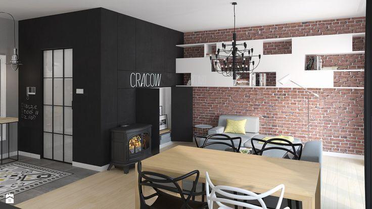 Wystrój wnętrz - Salon z kozą - pomysły na aranżacje. Projekty, które stanowią prawdziwe inspiracje dla każdego, dla kogo liczy się dobry design, oryginalny styl i nieprzeciętne rozwiązania w nowoczesnym projektowaniu i dekorowaniu wnętrz. Obejrzyj zdjęcia!