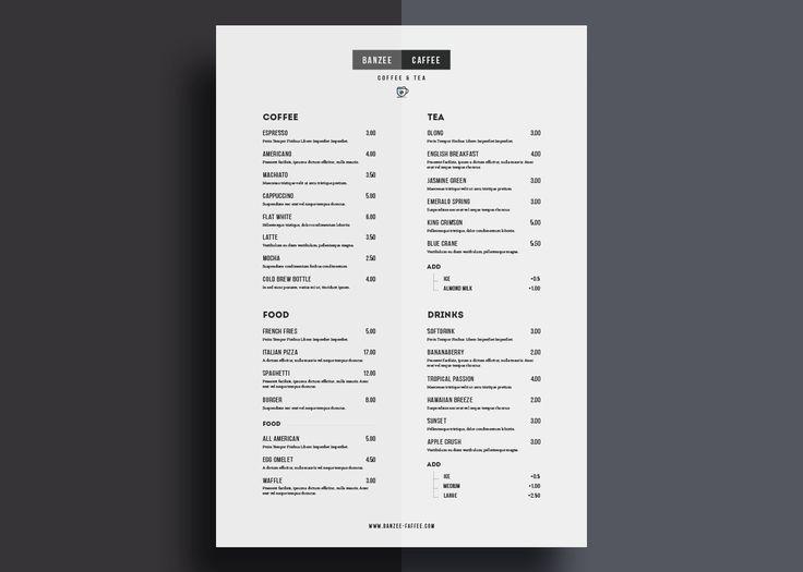 Ideas about free menu templates on pinterest