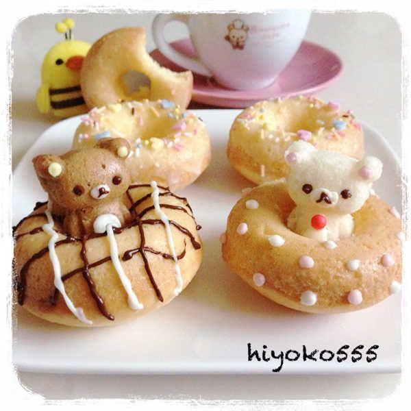 Oven baked Rilakkuma doughnuts