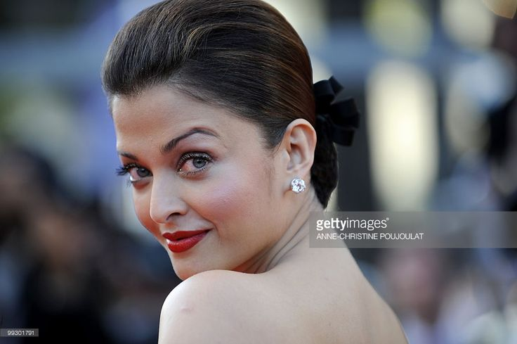 Indian model Aishwarya Rai arrives for the screening of the film 'Tournee' (On Tour) presented in competiton at the 63rd Cannes Film Festival on May 13, 2010 in Cannes.