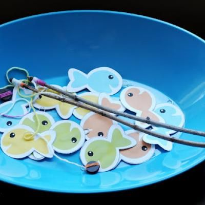 Printable Fishing Game For Kids: Add words to use for articulation therapy