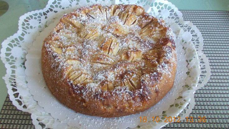 Frisse appeltaart met appels, yoghurt en citroen!