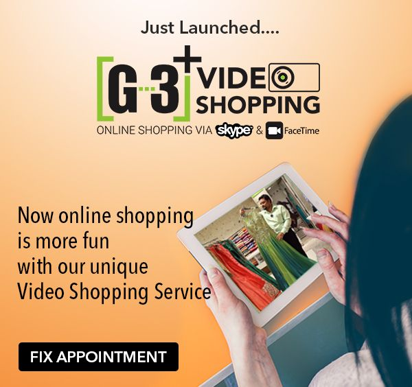 G3+ launched an innovative way of online shopping service through Skype or Facetime. Whatsapp US at +91-9824533322