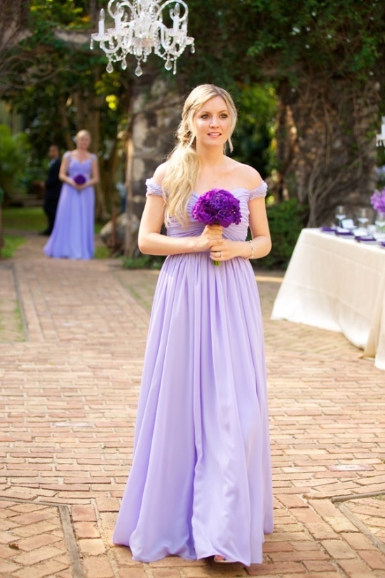 Elegant Long Light Purple Bridesmaid Dress Maybe All Wearing Different Shades Of Or