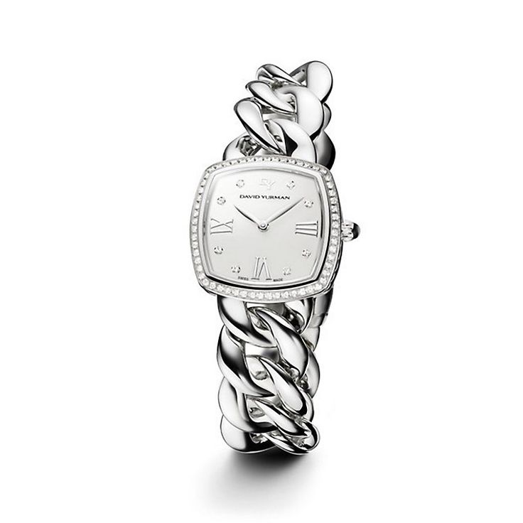 david yurman albion stainless steel quartz watch with diamonds