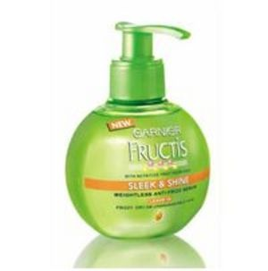 Garnier Fructis Sleek & Shine smells so yummy and makes my hair look amazing!