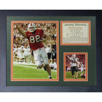 Legends Never Die Jeremy Shockey - Miami Hurricanes Framed Memorabilia