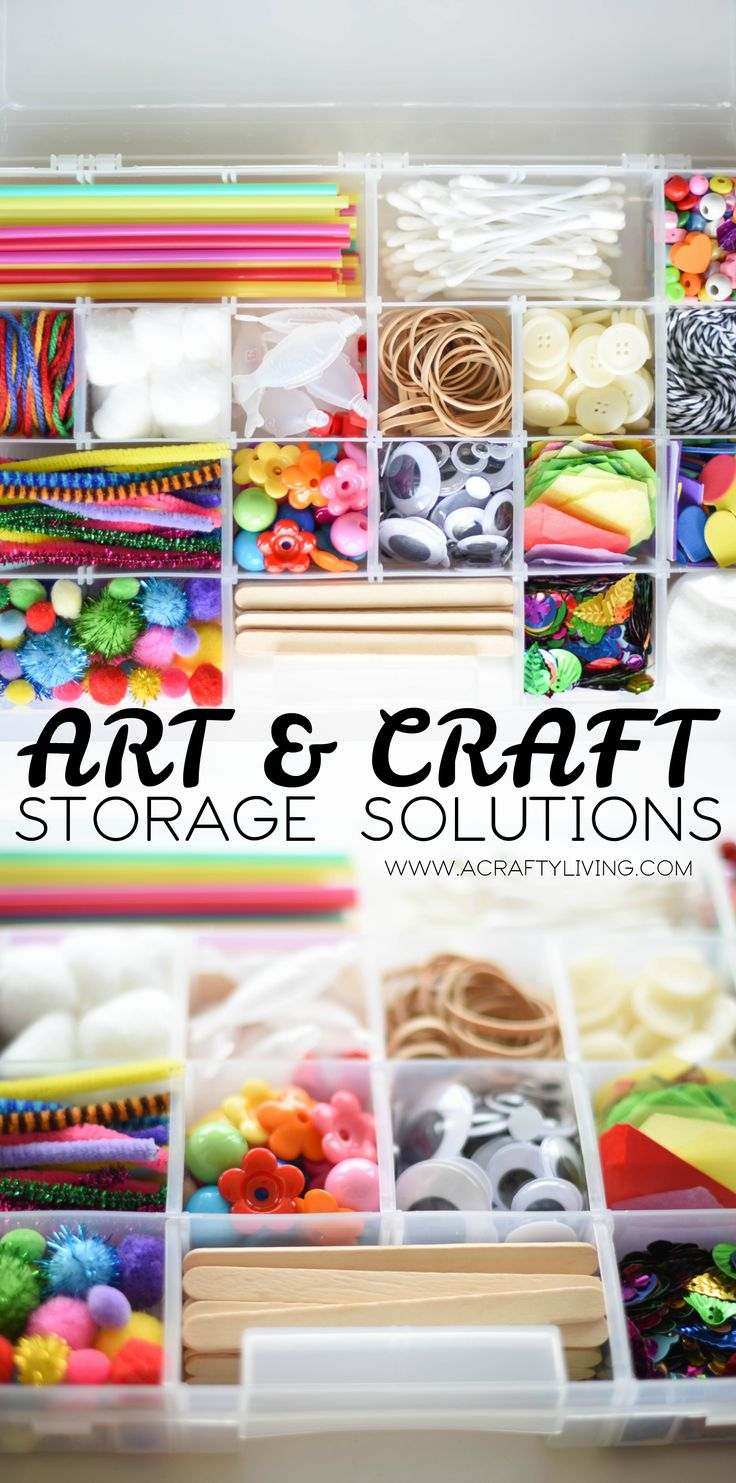 Art Craft Supply List Storage Solutions
