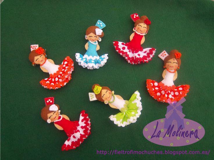 La Molinera: Muñecas Flamencas