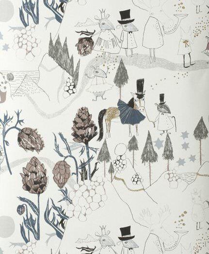 Ferm living papier peint Mountain Friends