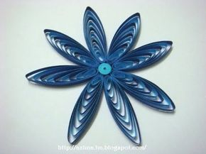 How to make a petal of a  two tone cascading loops flower with quilling comb - YouTube