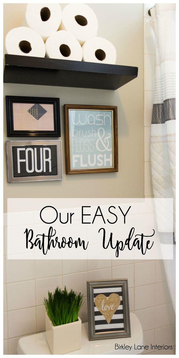 Home Decor, Easy Bathroom Update, Cheap Bathroom Update, Fast Bathroom  Update, Bathroom