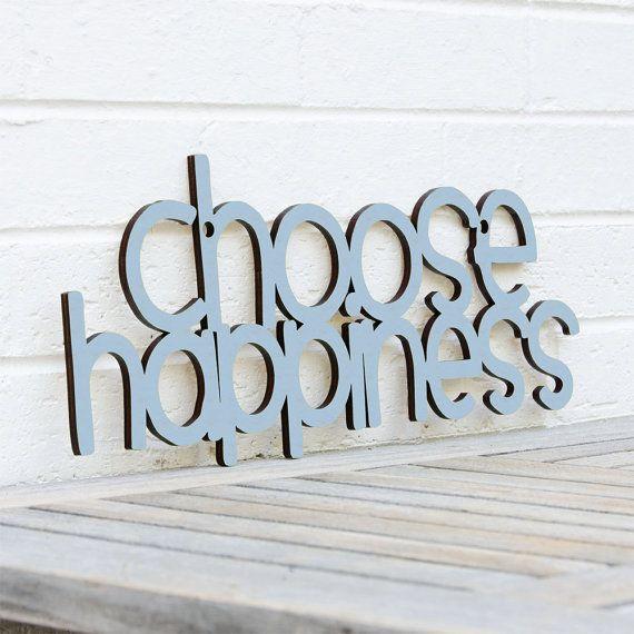 Scegliere la felicità on Etsy, €31,97