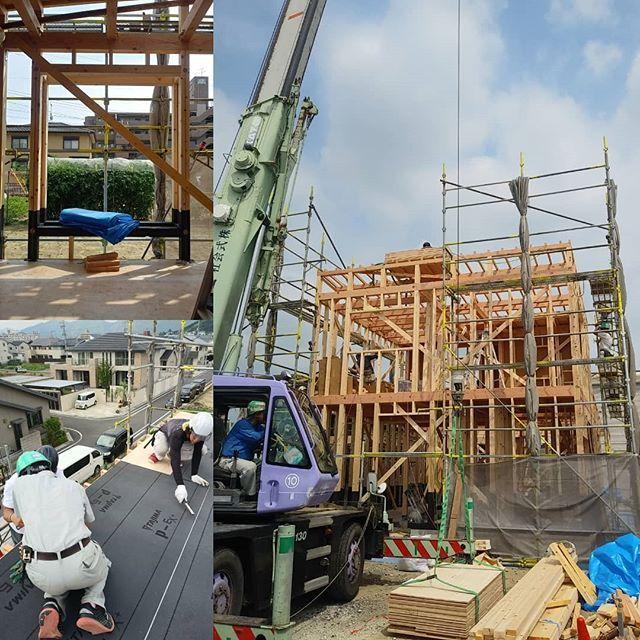 則武東の家の建方の様子を見てきました予想以上に作業が早くてビックリ