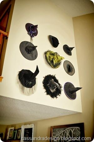 halloween gallery wall decor hallowen walljpg witches hat wall halloween display  witches hat wall halloween display