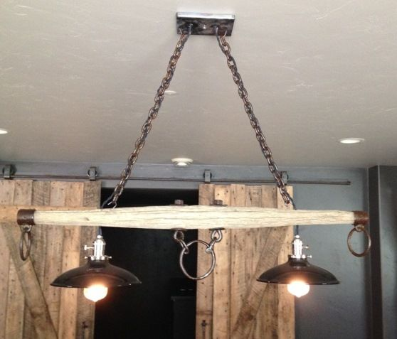 Porcelain Pendants Get Unique Mounting Over Rustic Pool Table | Blog | BarnLightElectric.com