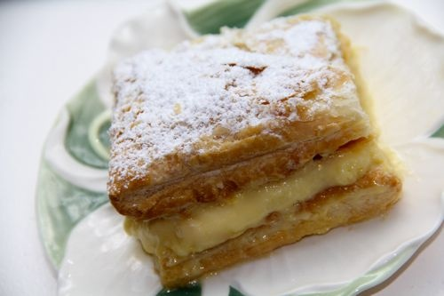 Oct 22: Kremówka Papieska :: Papal Cream Cake for the feast of Blessed Pope John Paul II (JPII, We Love You!), or Polish sausage with peppers and pierogies.