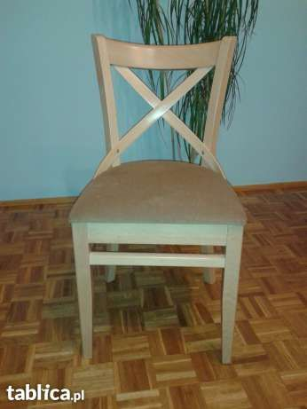 krzesła drewniane z paged meble Jasienica - image 1 6szt 1300 zł