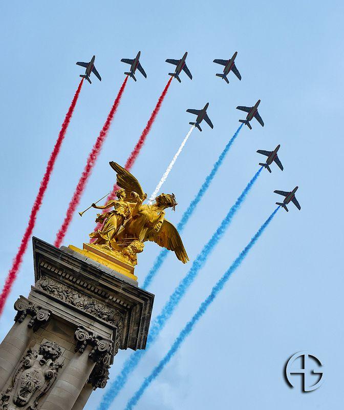 Patrouille de France, 13 Juillet 2012, Paris, France.
