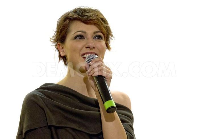 "Italian singer Simona Molinari presents her new album ""Dr. Jekyll Mr.Hyde"" and meets fans at La Feltrinelli in Rome."