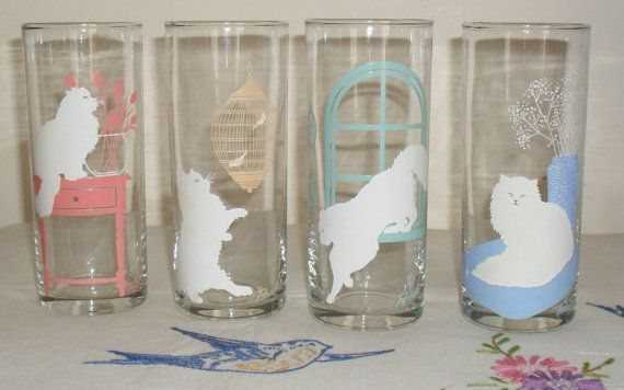 Check out this item in my Etsy shop https://www.etsy.com/uk/listing/246244242/1980s-cat-print-drinking-glasses