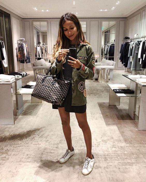 "JULIE SARIÑANA on Instagram: ""Mirror snap. ✨ • love my @shop_sincerelyjules Savoy T-shirt dress!"""