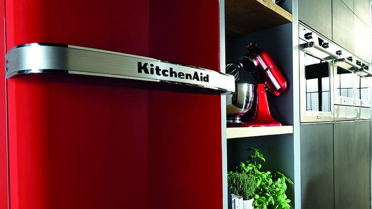 KitchenAid retro koelkast Iconic Fridge geïnspireerd door de iconische mixer #keuken #koelkast #kitchenaid