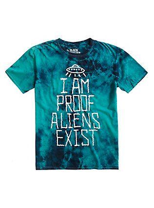 Proof Aliens Exist Tie Dye T-Shirt, TIE DYE